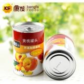 康发黄桃罐头425g批发外贸出口品质山东特产零食水果罐头