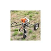 独轮折叠式地钻 两冲程汽油挖洞植树机 打坑机