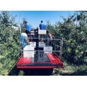 履带式多人站立果园套袋修剪采摘 自走式运输果园管理车